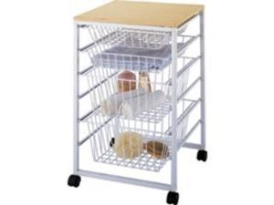 Homebasix SS-16183-WH 4-Drawer Basket, White