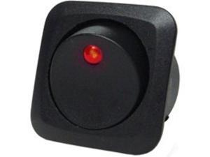25A RED LED ROUND ROCKER CALTERM INC 40600 046494406003
