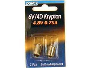 Dorcy International 2 Pack 6 Volt Krypton Bulbs  41-1663