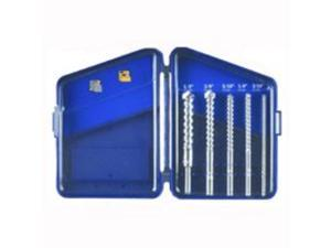 Carbide Tipped Rotary Hammer Masonry Drill Bit Set Case Pack 6