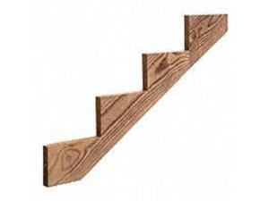 Stringer Stair 44-7/8In 4-Step UNIVERSAL FOREST Treated Wood Trim 106070