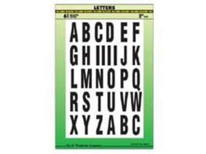 Set Ltr 2In Letters A - Z Vnyl HY-KO PRODUCTS Adhesive - Sets MM-7L Vinyl