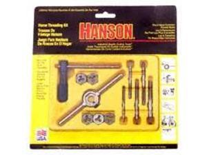 Irwin Industrial IRW24605 12-Pc Machine Screw Fractional Tap & Hex Die Set with Plastic Case
