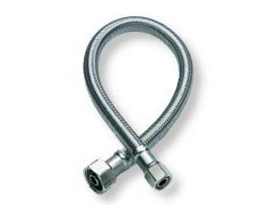 Fluidmaster .50in. X .50in. X 16in. No-Burst Braided Stainless Steel Faucet Connector