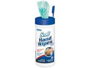 KIMBERLY-CLARK PROFESSIONAL* SCOTT Hand Wipes, Citrus Scent, Green, 30/Canister, 6/Carton