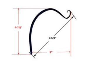 "9"" Forged Plant Hook Black MINTCRAFT Plant Brackets & Hangers GF-3023 Black"