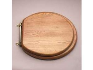 Mintcraft T-17-WO-3L 17-Inch Round Toilet Seat, Natural Oak