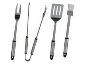 Mintcraft Q-430A3L 4-Piece BBQ Tool Set Stainless St 4 Pieces - Heavy Duty - Car