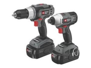 PC218IDC-2 18V Cordless 1/2 in. Drill Driver and Impact Driver Combo Kit