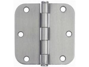 "Satin Nickel 3-1/2"" Door Hinge 5/8"" Radius NATIONAL Door Hinges N305-268 Steel"