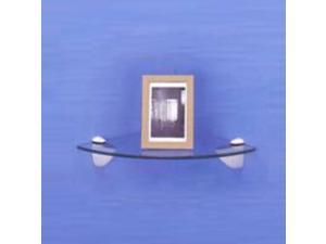 Mintcraft SG-B01 Shelf Grip 3-25-MM Brushed Nickel For Glass Shelves - Card of 2