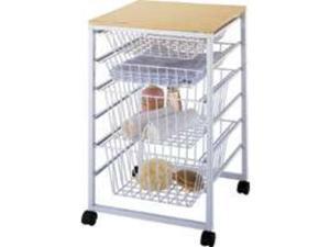 Homebasix SS-16183-WH-3L 4-Drawer Basket, White