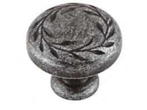 Amerock BP1581-WID 1.25 in. Knob - Wrought Iron Dark