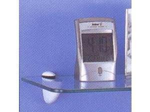Mintcraft SG-A03 3-18mm Shelf Grip for Glass Shelves, Brushed Nickel - 2-Pack