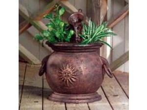 Little Giant Pump 566763 Copper Kettle Fountain with Planter