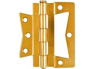 "National Brass Finish 3"" Surface Mount Hinges 2pk NATIONAL Door Hardware Brass"