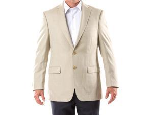Ralph Lauren Men's 2 Button Tan Pindot Sport Coat Jacket