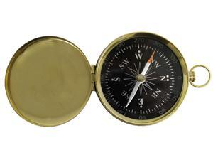"3"" Black Face Solid Brass Compass w/Cover: Camping and Hiking"