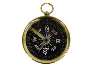 "1 3/4"" Locking Brass Pocket Compass: Camping and Hiking"