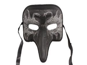 DARK MASQUERADE MASK - Swan Design - FANCY VENETIAN