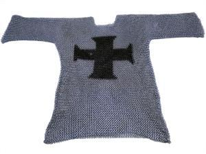 Medieval Chainmail Shirt - 3/4 Sleeve - Templar Cross Armor