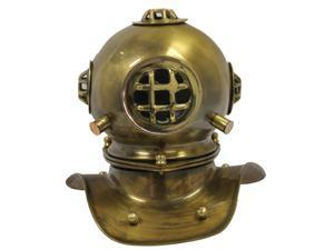 "8"" Mark V Brass Dive Helmet: Navy Diver Display"