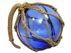 "10"" MARITIME FISHING FLOAT - Blown Glass - GARDEN GLOBE"