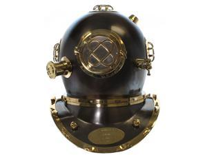 Full Sized Mark V Diver Helmet Reproduction - Steel with Brass and Copper Accents