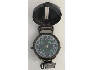 Lensatic Pocket Compass - Antique Finish - Military Style