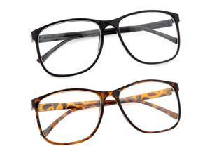 Large Thin Frame Glasses : Large Oversized Wayfarer Style Clear Lens Sunglasses ...