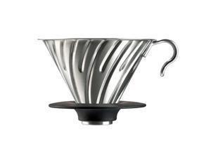 Hario Vintage Inspired All Metal 02 Coffee Dripper Stainless Steel V60 Silver