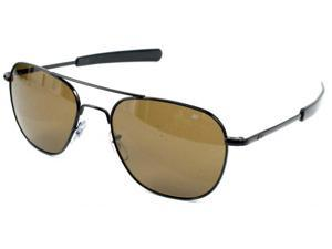 American Optical Original Pilot Bayonet 55 Black Cos Sunglasses 30189
