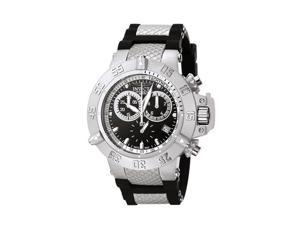 Men's Subaqua Chronograph Black Polyurethane & Stainless Steel