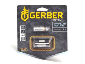 Gerber Hunting Myth Hands Free LED Headlamp W/ Camo Headband and Battery 001259