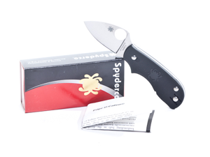 Spyderco SSC154PBK Knives Folder Knife FRN Handle Squeak Non Locking Folder 3 1/