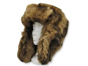 EXPLORER USHANKA TRAPPER Trooper Pilot Russian AVIATOR Soft Faux Fur Hat Men and Women 7 1/8