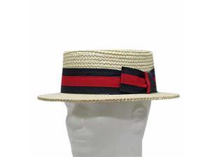 CLASSIC BOATER Bleach SKIMMER Straw Hat Men's 7