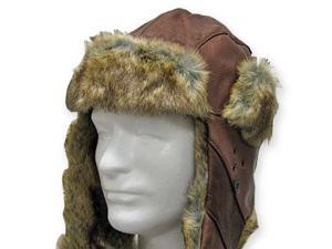 AUSTRALIAN USHANKA Trapper Genuine Leather PILOT Trooper AVIATOR Hat Men and Women 7 1/2