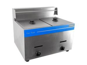Commercial Dual Basket Deep Fryer Liquid Propane Stainless Steel UGF-72