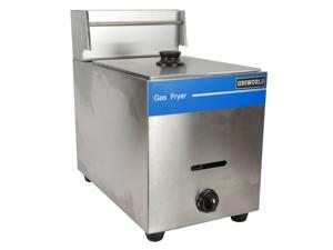 Commercial Single Basket Deep Fryer Liquid Propane Stainless Steel UGF-71