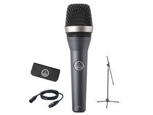 AKG Pro Audio Stage Pack D5 Vocal Dynamic Microphone, Super-Cardiod D5STAGEPACK