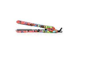 Amika Ceramic Styler Hair Straightening Flat Iron - Graffiti