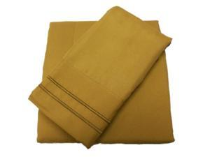 Luxury Collection 1500 Easy Care Microfiber Sheet Set Light Brown King