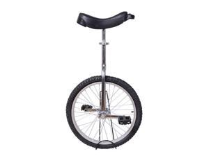 "Aosom Deluxe 20"" Wheel Unicycle - Chrome Plated Steel Frame w/Stand"