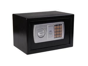 "HomCom 12"" x 8"" x 8"" Steel Electronic Digital Safe Box - Black"