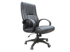 HomCom Adjustable Mid Back Executive Office Computer Desk Chair - Black