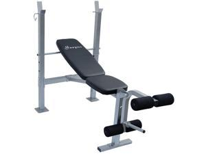 Soozier Incline  #47; Flat Exercise Free Weight Bench w #47; Leg Extension