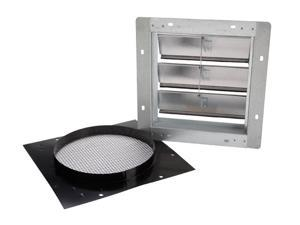"Broan 441 Aluminum Wall Cap with gravity damper for 10"" round duct"