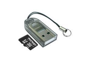 Skque USB 2.0 Micro SD Memory Card Reader, Black