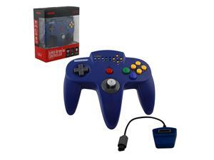 Retro-Bit Wireless Hypermode Controller Blue for Nintendo 64